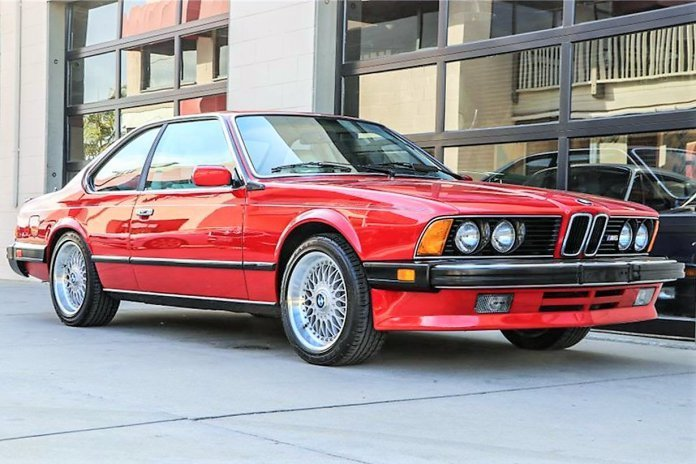 Fast attractive 1988 BMW M6 sports coupe