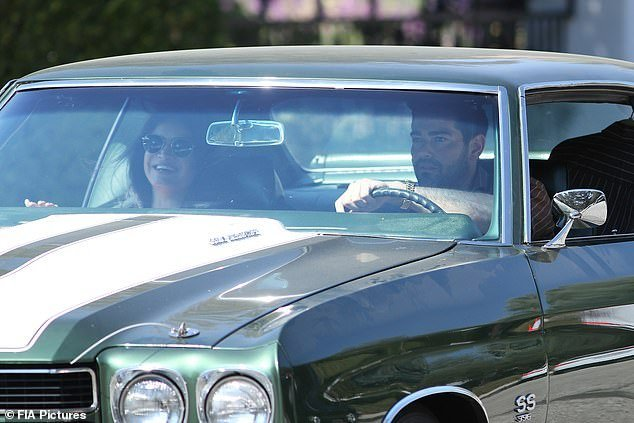 Hot rod: The Desperate Housewives star drove up to the deli with in Metcalfe's SS Chevrolet Chevelle muscle car