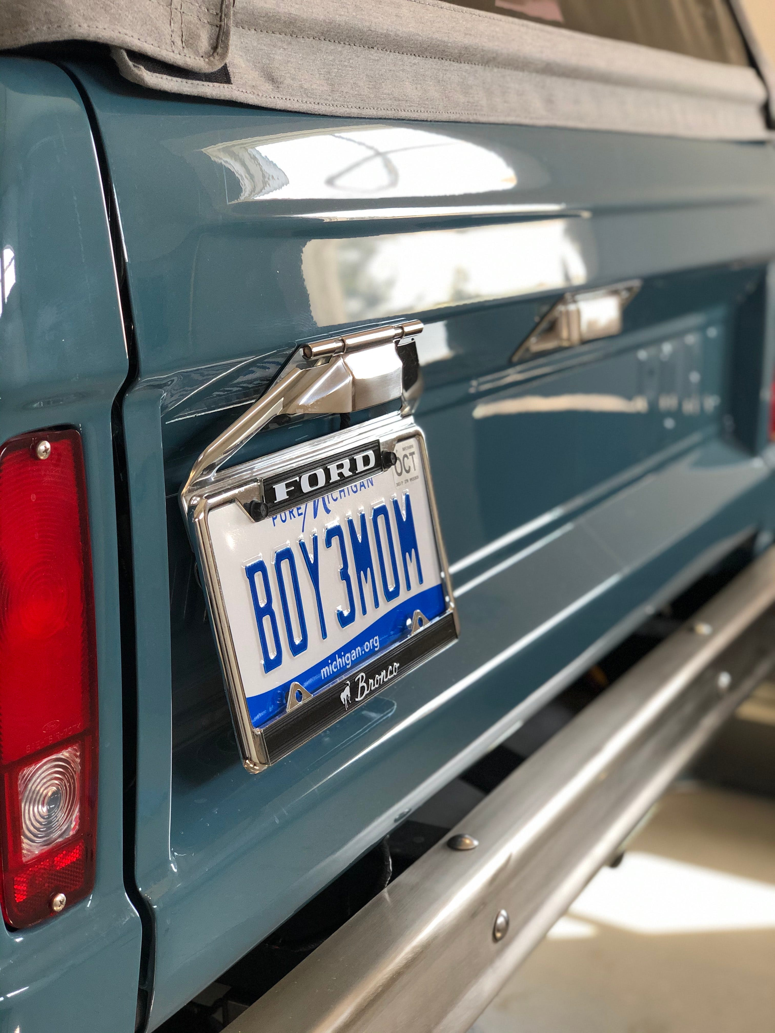 Molly Bancroft of Saint Johns purchased a restored 1973 Ford Bronco with the vintage feel and updated features. She uses it to tote her boys around, she said.