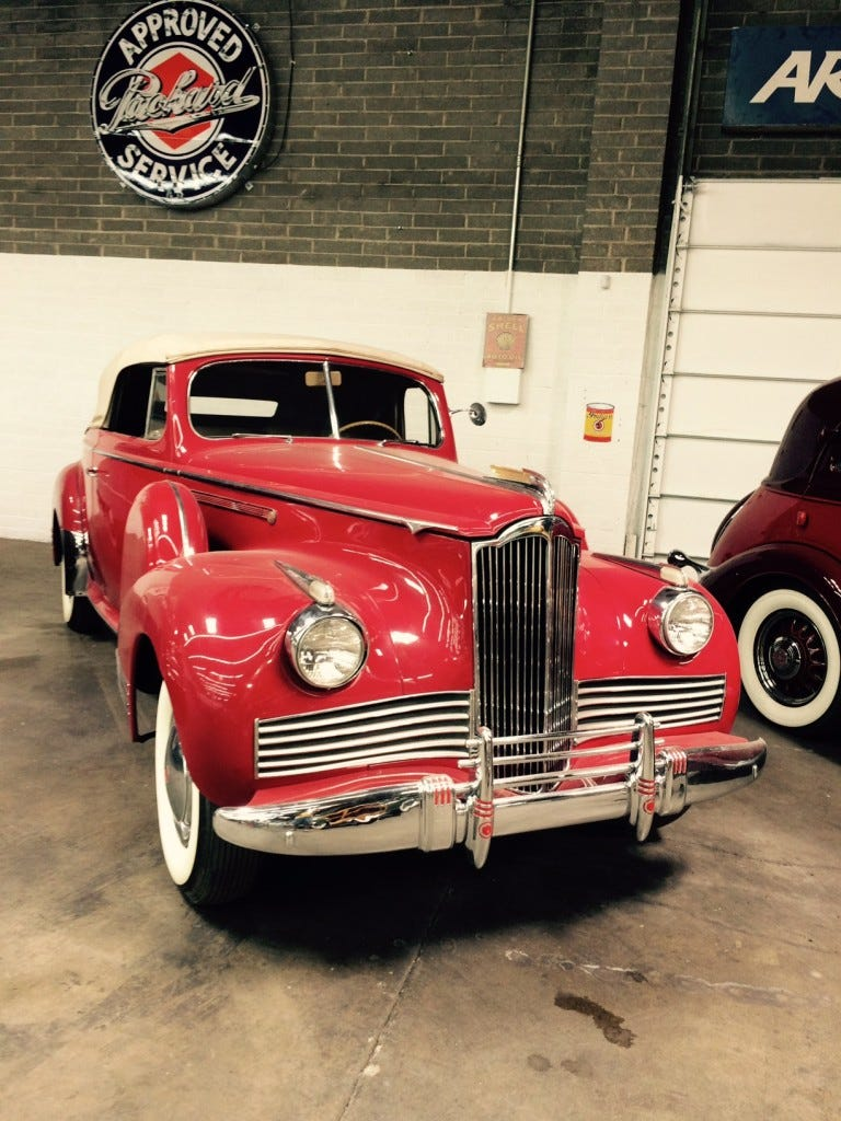A 1942 Packard Convertible is one of the cars on display at Wayne's Toys, a car museum in Tucson, Arizona. Owner Wayne Gould plans to open a similar museum in Vero Beach at the former Press Journal building, 1801 U.S. 1.
