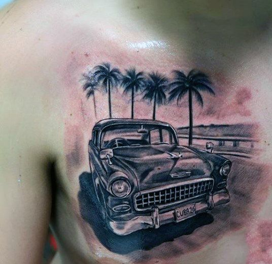 Classic car tatoo