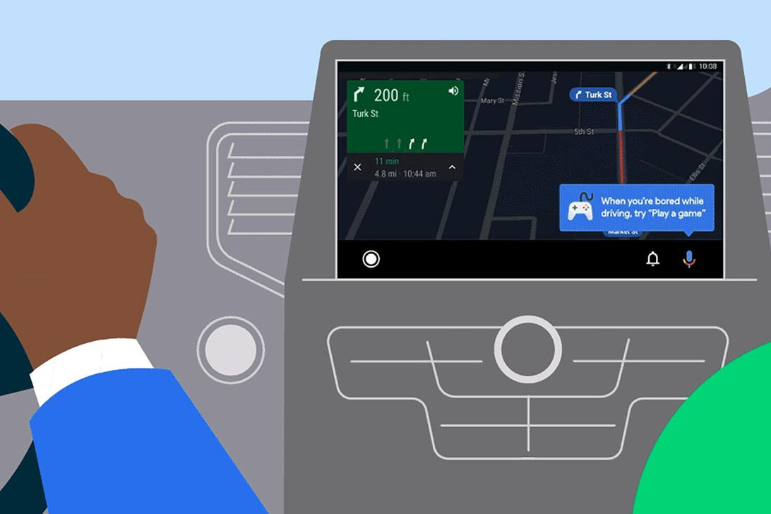 Android Auto update includes car games and split screen function