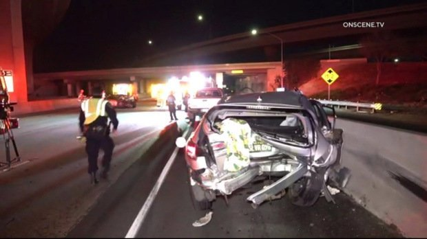 Passenger dies in 55 Freeway crash in Tustin driver arrested