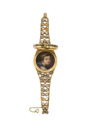 Queen Victoria Diamond gold bracelet