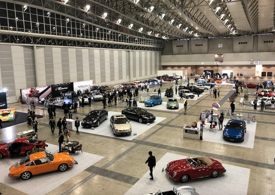 The Makuhari Messe complex east of Tokyo housed just under 100 cars.
