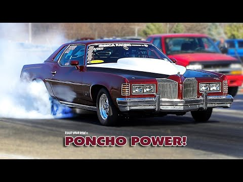 1976 Pontiac Grand Prix Is a Family Owned Dragster Runs 9s