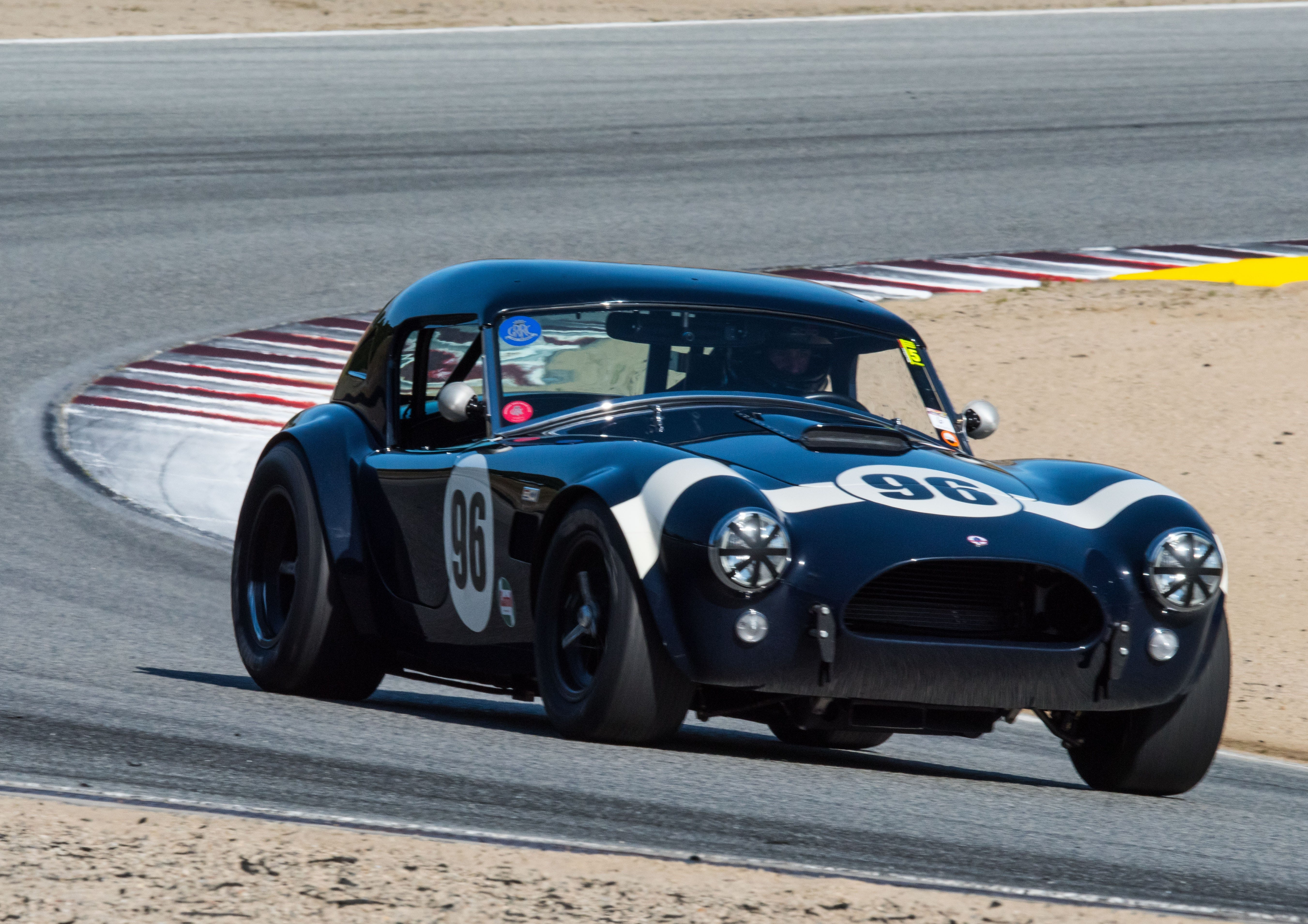 Ford CEO Jim Farley raced in the Sportscar Vintage Racing Association series at the WeatherTech Raceway Laguna Seca in Salinas, California on Saturday, May 1, 2021. He won his class and placed second overall.