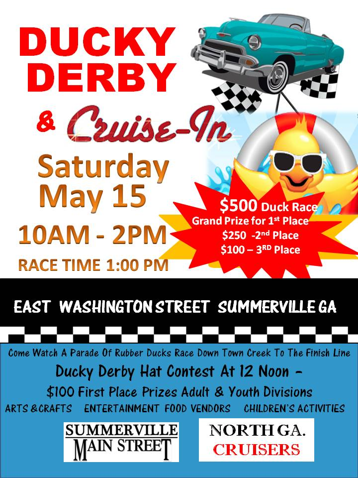 Ducky Derby Classic Car Cruise – In Derby Hat Contest