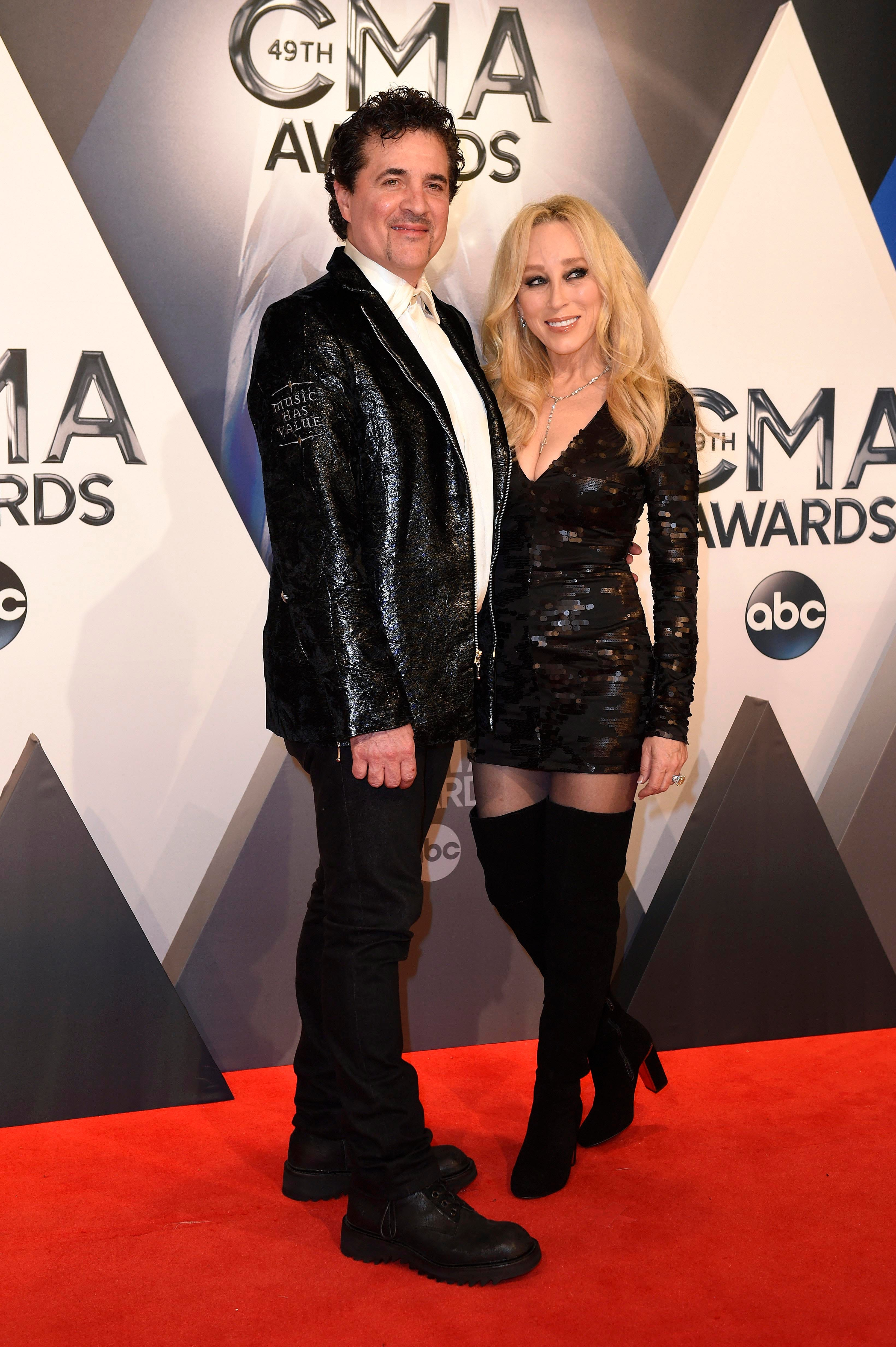 Scott Borchetta arrives on the red carpet for the 49th Annual Country Music Association Awards in 2015 at the Bridgestone Arena in Nashville, hosted by Brad Paisley and Carrie Underwood.