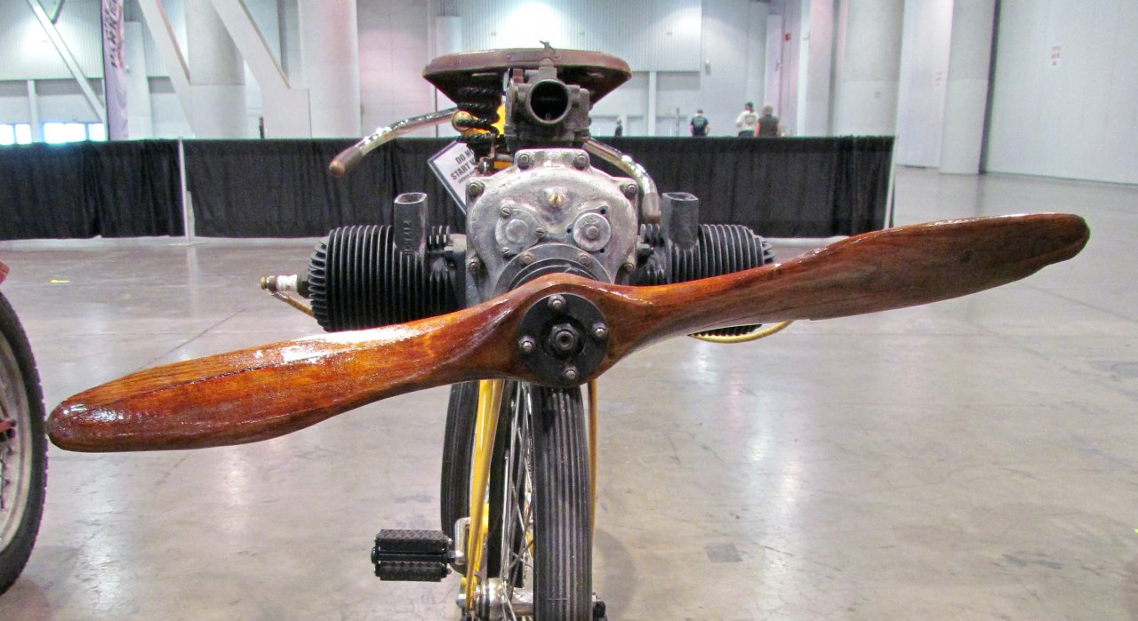 Think skateboarding is crazy Consider the bicycle with a propeller