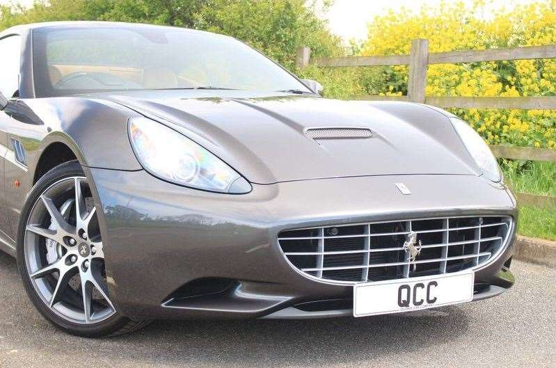 Hugh Grant's Ferarri California is being advertised on Auto Trader this month