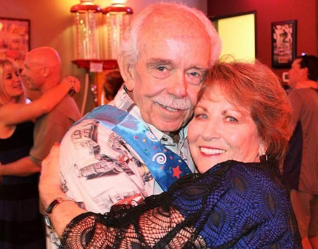 Longtime Carson City businessman and entrepreneur Garth Richards at his 80th birthday party with his wife, Joanie, in 2015.